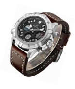 Men Waterproof Digital Analog Military Sports Watch Quartz Brown Leather... - $62.56+