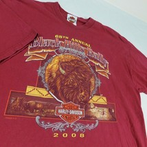 Harley Davidson Sturgis Black Hills 2008 Buffalo Mt Rushmore Red T Shirt... - $25.99