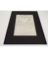 New York Times June 6 1944 Framed 16x20 Front Page Poster WWII US Army L... - $74.44