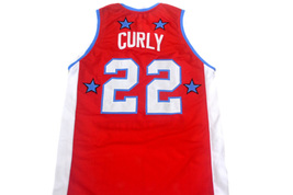 Curly #22 Harlem Globetrotters Men Basketball Jersey Red Any Size image 2