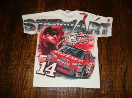 Vintage Tony Stewart Nascar Racing All Over Print T Shirt M - $39.59