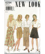 New Look Pattern 6294 4 Skirt Skirt Styles Sizes 8 - 18 Used Complete Pa... - $6.92