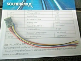 Soundtraxx 851002 MC1Z102SQ 2 Function DCC Decoder 13 x 9 x 3 MM N with Leads image 1