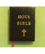 Dollhouse Black Bible Jacqueline 4700 Ribbon Bookmark Gold Edge gemjane - $2.80