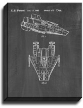 Star Wars A-Wing Patent Print Chalkboard on Canvas - $39.95+