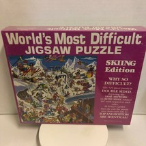 World's Most Difficult Jigsaw Puzzle SKIING EDITION - Buffalo Games New ... - $25.99