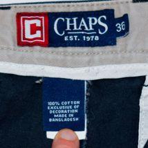 Chaps by Ralph Lauren Flat Front Faded Navy Blue Men's Cotton Shorts Size 36 image 5