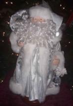 "Silver Sparkle & Shimmer White Christmas Santa Claus Table Decor 16""  - $23.76"
