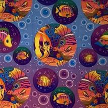 Lisa Frank Complete Sticker Sheet S212 Rainbow Kissing Fish Circle Style image 2