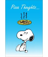 """Snoopy Peanuts """"Pizza Thoughts"""" Custom Stand-Up Display - Gift Item - $15.99"""