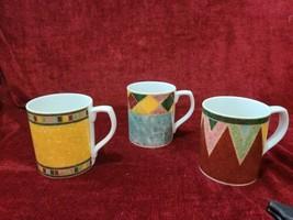 """Royal Doulton Japora TC1269 Set of 3 Mugs 3 3/4"""" - $52.46"""