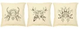 Tribal Decorative Totem Print Khaki Throw Pillow Cushion Case VPLC_02 Si... - €9,15 EUR