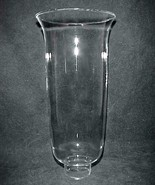 Glass Hurricane Lamp Shade 1 5/8 X 9 Slim Chandelier Wall Sconce Candle ... - $19.95