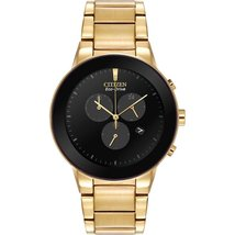 Citizen Men's Eco-Drive Gold tone Axiom Chronograph Watch AT2242-55E image 1