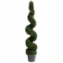 """60"""" Artificial Spiral Boxwood Topiary Tree Plant - 29288 - $118.79"""