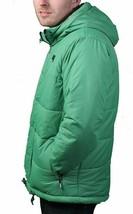 Bench UK Mens Hollis Zip Up Green Hooded Puffy Winter Jacket Coat NWT image 2