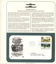 World War II, B-24s Lead Attack, Postal Commemorative Society, 1st Day o... - $2.99
