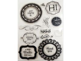 Sentiments in Frames Clear Stamp Set