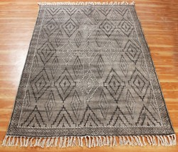 Indian New Block Printed Dhurries Handmade Home Area Rug Hand Woven Carpet - $42.27+