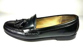 COLE HAAN Men's Loafers 9 D Leather Black Pinch Tassel Slip On Dress Shoes image 3