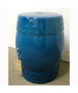 "18"" Ceramic Garden Stool Blue - 68136 - $89.09"