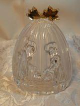 Mikasa Golden Stars Nativity Scene Evita Lead Crystal Frosted Glass Germany  image 3