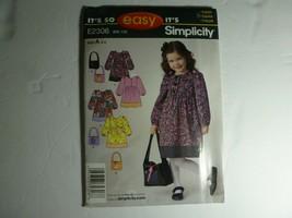 Simplicity It's So Easy Girl Dress Patterns - Bin 135 #E2306  Size A 3 - 8 - $6.92