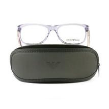 Emporio Armani EA3001 Eyeglasses 5071 Violet Transparent Plastic 54 17 140 - $57.00