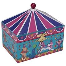 Splendid Music Box Co. Multicolored Magical Stripe Carousel of Horses Pa... - $55.02