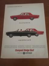 Vintage 1964 Dodge Dart Life Magazine Ad - $9.95