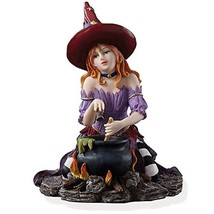 Lenox Witch's Brew Figurine Halloween Cauldron Red Head Bewitching Beaut... - $49.95