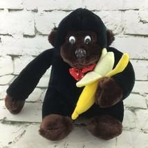 "Vintage Monkey Plush 9"" Gorilla With Banana Stuffed Jungle Animal Soft Toy  - $14.84"