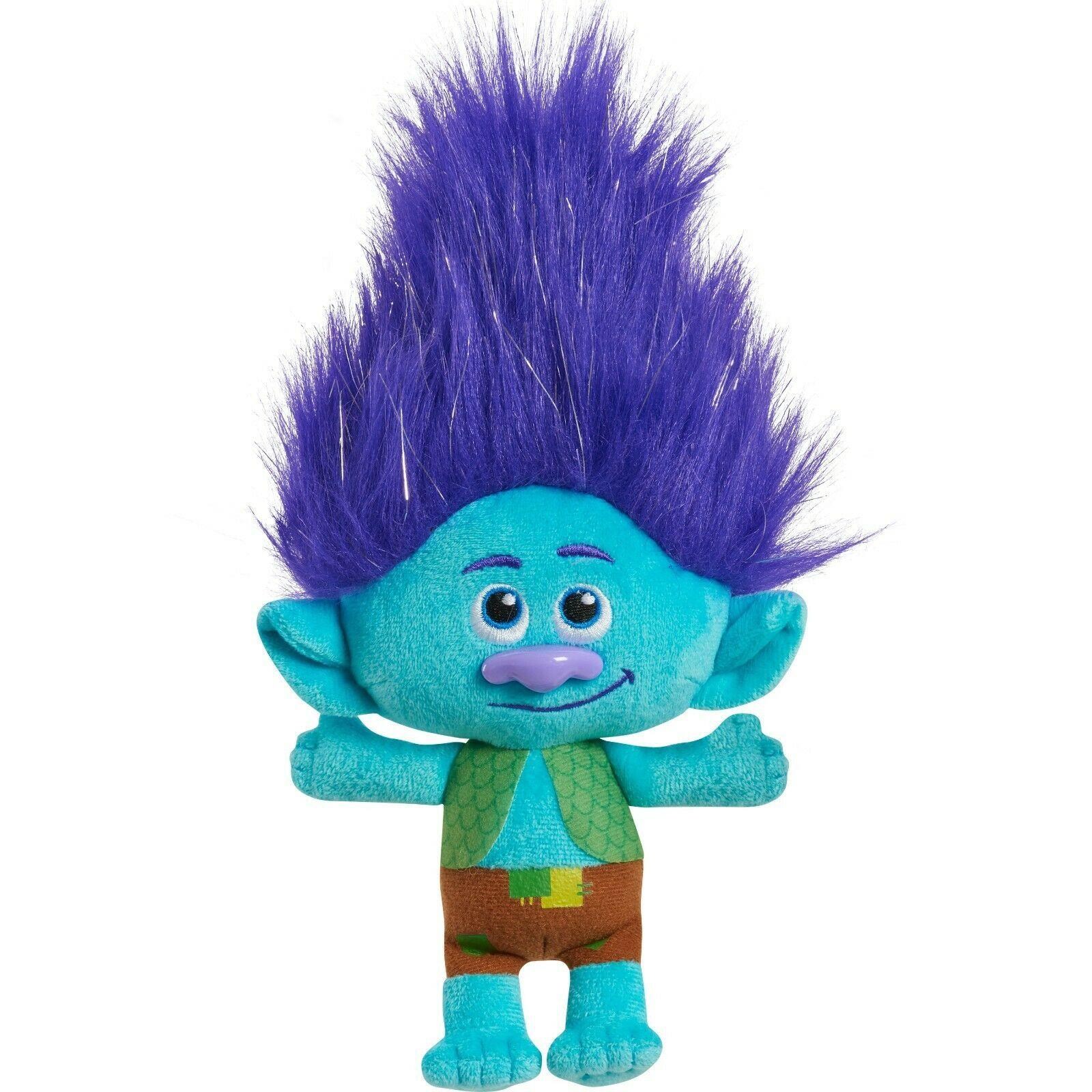 DreamWorks Trolls World Tour 8 Inch Small Plush Branch - New - $16.99