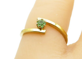 AVON 925 Sterling Silver - Petite Peridot Gold Plated Band Ring Sz 5 - R... - $16.92