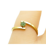 AVON 925 Sterling Silver - Petite Peridot Gold Plated Band Ring Sz 5 - R... - £13.05 GBP
