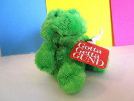 FROG Plush Toy GUND Lil Garden Delights GREEN w/ FLOWER, mini stuffed an... - $6.99