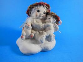 "Dreamsicles Angel Cherub  LOTS OF LOVE Child Baby & Bunny Rabbit  3.25"" ... - $8.90"
