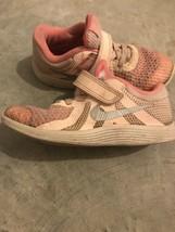 Little Girls Nike Sneakers Size 10 US Pink Sneakers Nike Girls Slip On - $4.94