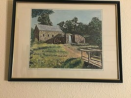 "Old Mill by Dwight D. Eisenhower/© 1968, Eisenhower College Print 16"" X ... - $29.45"