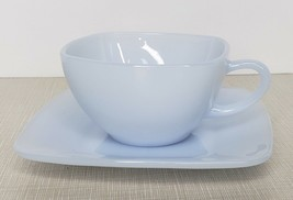 Vintage Fire King Azurite Charm Blue Cup And Saucer one Set Tea Coffee - $15.84