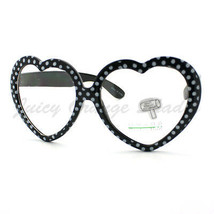 Heart Shape Love Eyeglasses Clear Lens Fashion Polka Dot Prints Frames - $7.95