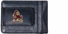 arizona state sun devils logo ncaa college emblem leather cash & cardholder - $27.07