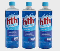 3 ~ HTH SUPER Pool Water Clarifier Non Chlorine Concentrated Formula 1 q... - $46.99