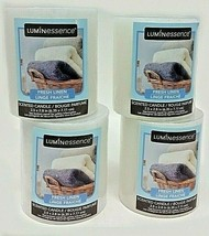 ( 4 ) Luminessence Fresh Linen Scented Pillar Candles 2.5 In. X 2.8 In. ... - $16.71