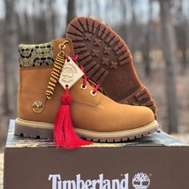 """Timberland Women's Premium 6"""" Inch Wheat Leather Waterproof Boots A1RQG - $2.175,17 MXN"""
