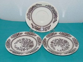"""Usa Sussex Ironstone Jeanette-2 Bread & Butter Plates-1 Saucer- 6 1/4""""-C... - $14.84"""