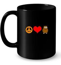 Peace Love Owls Predator Bird Lover Nocturnal Cool Ceramic Mug - $13.99+
