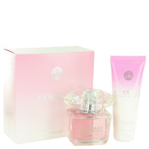Versace Bright Crystal Perfume 3.0 Oz Eau De Toilette Spray 2 Pcs Gift Set image 1