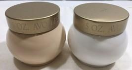 Vtg Avon SOFT MUSK and Contrast Perfumed Skin Softener Body Cream 5oz Jars NOS - $24.70