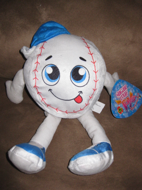 "Primary image for BASEBALL GUY BRAND NEW PLUSH NWT Stuffed Animal w Tags 13"" SUGAR LOAF TOYS"